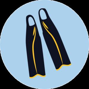 Короткие ласты для бассейна